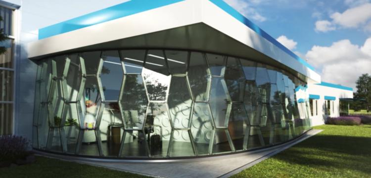 3D-printed facade nodes